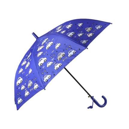 Зонт детский Джамбо Машинки меняют цвет, синий, в комплекте свисток, 50 см