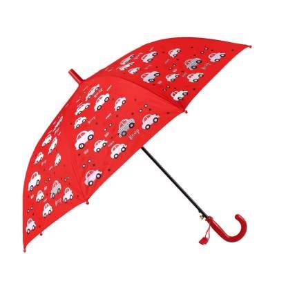 Зонт детский Джамбо Машинки меняют цвет, красный, в комплекте свисток, 50 см