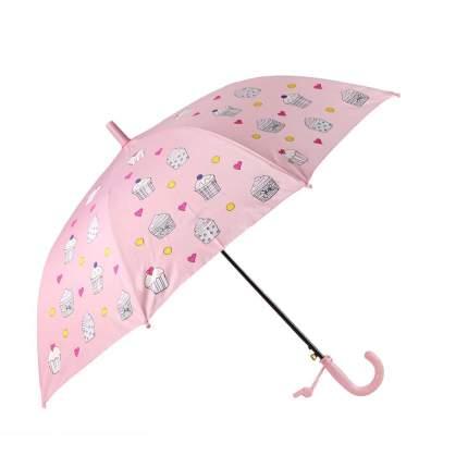 Зонт детский Джамбо Капкейки меняют цвет, розовый, в комплекте свисток, 50 см