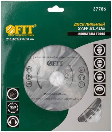 Пильный диск по алюминию 210 x 30 x 60 T  FIT 37786