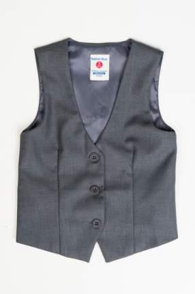 Жилет для девочки Button Blue, цв.серый, р-р 158