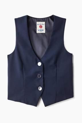 Жилет для девочки Button Blue, цв.синий, р-р 122