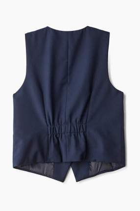 Жилет для девочки Button Blue, цв.синий, р-р 158