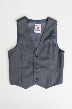 Жилет для мальчика Button Blue, цв.серый, р-р 134