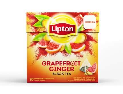 Чай черный в пирамидках Lipton Grapefruit Ginger 20*1.6 г