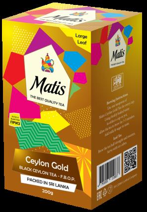 Чай весовой черный Матис Ceylon Gold F.B.O.P. 200 г