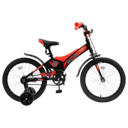 """Велосипед Stels 18"""" Jet Z010 2018 10"""" черный/оранжевый"""