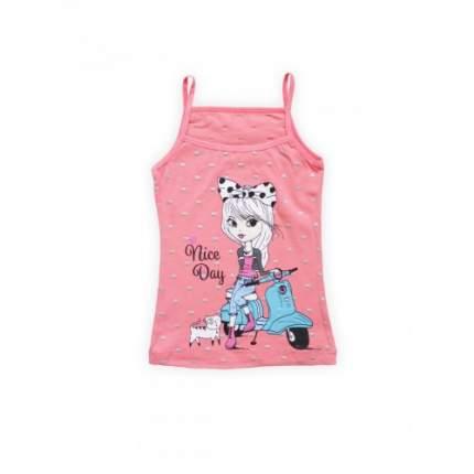 Майка для девочек Miss Beautiful, цв. розовый, р-р 116