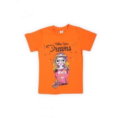 Футболка для девочек LELO, цв. оранжевый, р-р 152