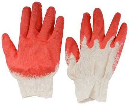 Перчатки вязаные х/б с резиновой заливкой наладонника. 12470