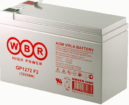 Аккумулятор для ИБП WBR GP1272 F2 28W White (GP1272F2(28W)WBR)