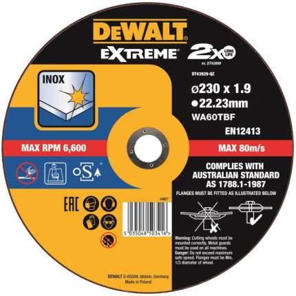 Диск отрезной абразивный DEWALT DT43939-QZ