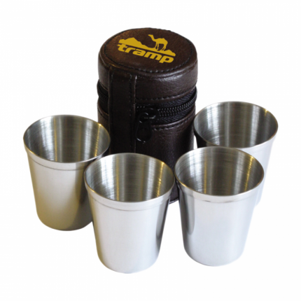 Набор стаканов в чехле Tramp 4 шт 175мл TRC-076