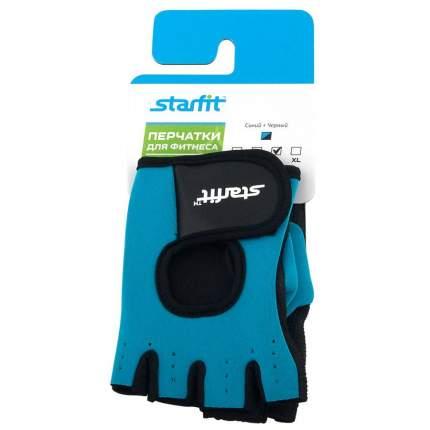 Перчатки для фитнеса StarFit SU-107, blue/black, L