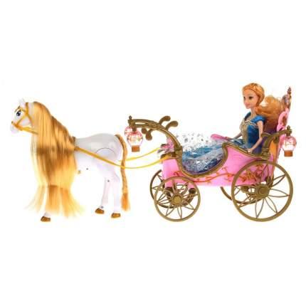 Карета для кукол Shantou Gepai с куклой и лошадью B1670581