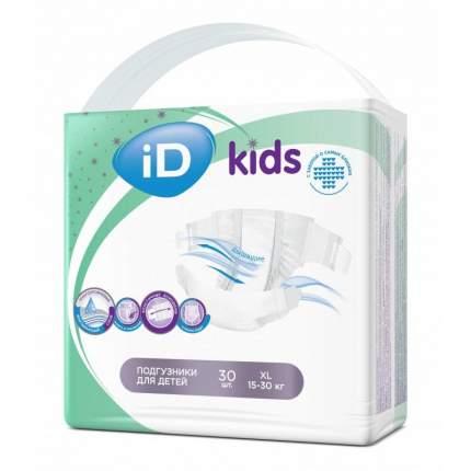 Подгузники iD Kids NEW XL (15-30 кг), 30 шт.