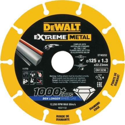 Диск отрезной алмазный DEWALT (DT40252-QZ) Ф125х22.2мм по металлу