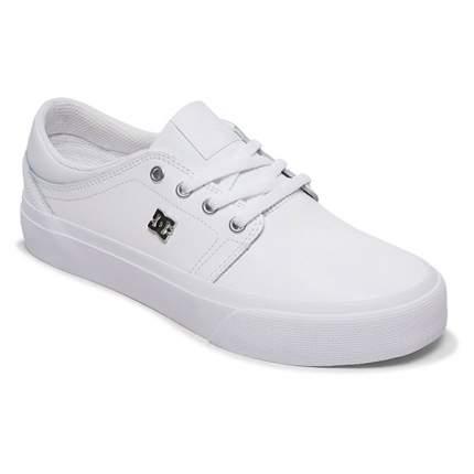 Женские замшевые кеды Trase DC Shoes, белый, 7 US