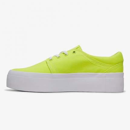 Женские кеды Women's Trase Platform TX DC Shoes, желтый, 6,5 US