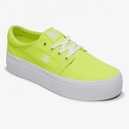 Женские кеды Women's Trase Platform TX DC Shoes, желтый, 7,5 US