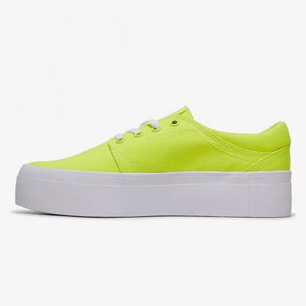 Женские кеды Women's Trase Platform TX DC Shoes, желтый, 8 US