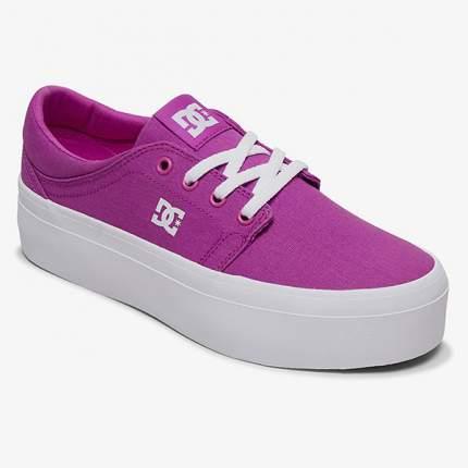 Женские кеды Women's Trase Platform TX DC Shoes, пурпурный, 6 US