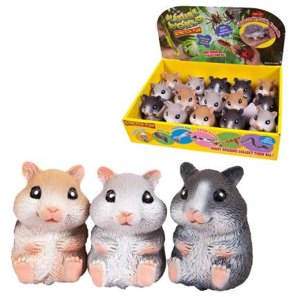 Игрушка-антистресс Junfa toys Тянучка Nature world Хомячок, 3 вида