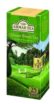 Чай Ахмад китайский в пакетиках с ярлычками зеленый байховый мелкий 25*1.8 г
