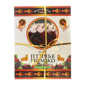 Торт фили-бейкер народная птичка бисквитн лесная ягода 700 г к/к # фили-бейкер россия
