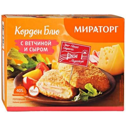 Котлеты Мираторг Кордон блю с ветчиной и сыром 405 г