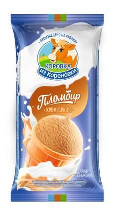 Мороженое Коровка из Кореновки пломбир крем-брюле в вафельном стаканчике 100 г