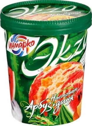 Мороженое Эkzo инмарко ванильное арбуз дыня жирность 4.5 % ведро 520 г