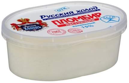 Мороженое Русский холодъ Настоящий пломбир ванильное 450 г