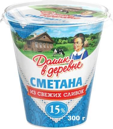 Сметана Домик в деревне из свежих сливок 15% 300 г