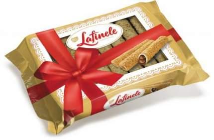 """Вафельные трубочки Знак вкуса с шоколадной начинкой в глазури с арахисом, """"Лафинель"""""""