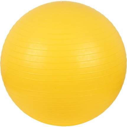 Мяч гимнастический (фитбол) с системой «антиразрыв» диаметр: 55 см, желтый М-255 Тривес