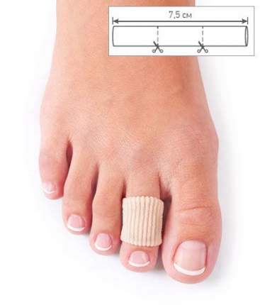Отрезная защитная трубочка для проблемных пальцев ног Todes 7,5см, Ortmann, р.S