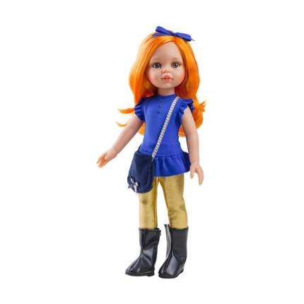 Туфли Paola Reina сиреневые с цветочком, для кукол 42 см