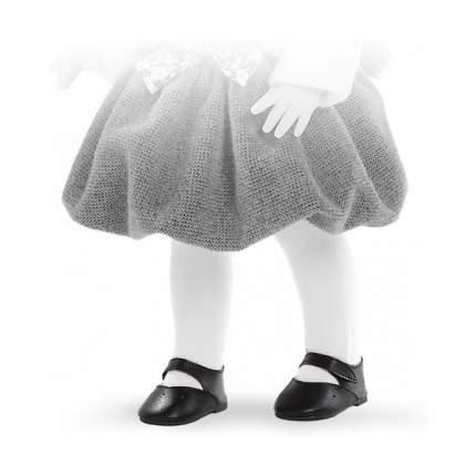Туфли Paola Reina черные на липучке, для кукол 42 см