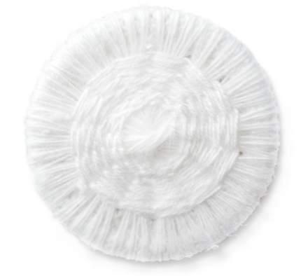Бельевые пуговицы, обтянутые нитками, 15 мм, белые, 18 штук