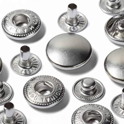 """Непришивные детали """"Кнопки"""" (латунь) для 390301, серебристый, 15 мм"""
