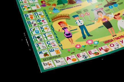 Плакат «Расти и учись» для детей старшего дошкольного возраста 3-6 лет