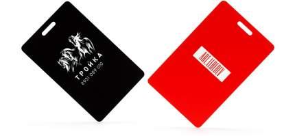 Карточка «Тройка» Студия Артемия Лебедева V008631 красная