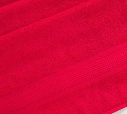 Полотенце махровое с бордюром (Алый) 100х180