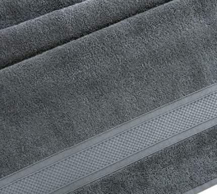 Полотенце махровое с бордюром (Антрацит) 40х70 100% Хлопок