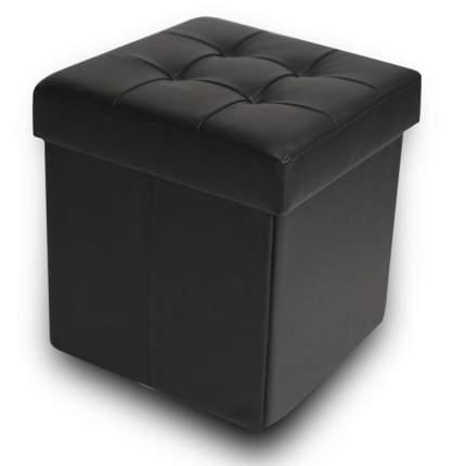 Пуфик Складной со стяжками DreamBag Черный ЭкоКожа