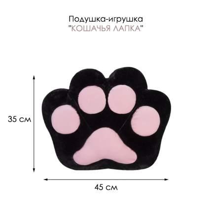 Подушка-игрушка Baby Fox Кошачья лапка, цвет черный, 45х35х15 см