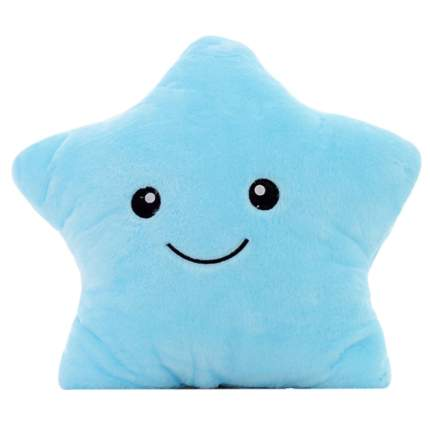 Подушка-игрушка Baby Fox Звезда с подсветкой внутри, цвет голубой, 35х35х15 см