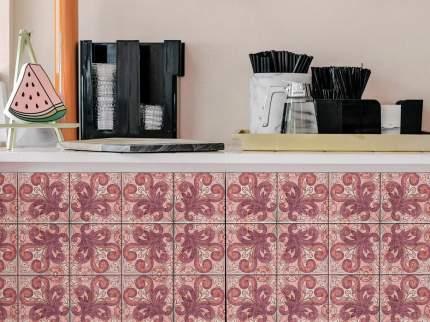 """Наклейка на стену Плитка с растительным узором """"Голландия"""" 24 шт. 10х10 см"""