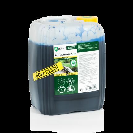 Антисептик для древесины ЗЕЛЕСТ А-4К-06 ЕвроБио ж/к, 6 кг (концентрат)